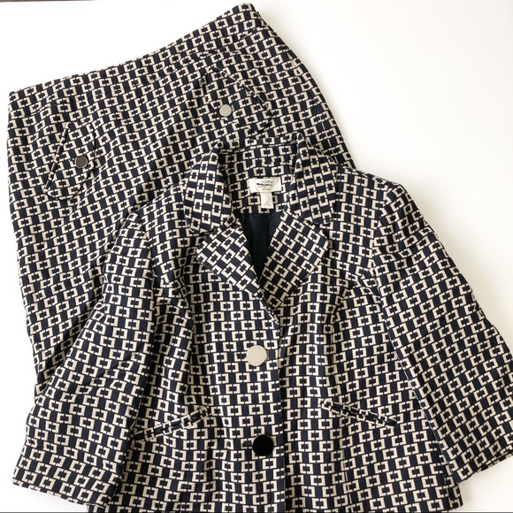 LOFT Other - Loft patterned skirt suit set